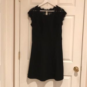 DVF Maddie Black Lace Cocktail Dress